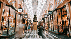 A photograph of Melbourne's Block Arcade at Christmas