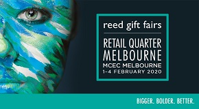 Reed Gift Fairs Retail Quarter Melbourne. MCEC Melbourne, 1-4 February 2020